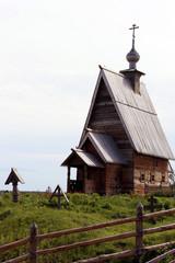 Плес. Деревянная церковь на горе Левитана.