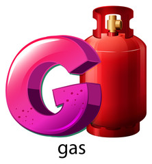 A letter G for gas