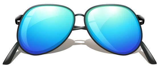 A blue sunglasses