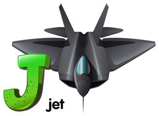 A letter J for jet