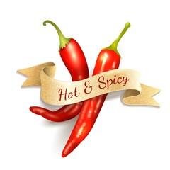 Chili pepper ribbon badge