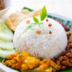 Spicy food nasi lemak