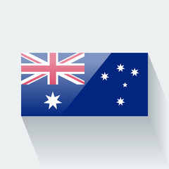 Isolated glossy flag of Australia