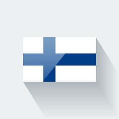 Isolated glossy flag of Finland