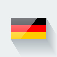 Isolated glossy flag of Germany