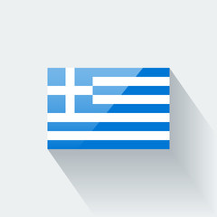 Isolated glossy flag of Greece