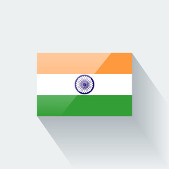 Isolated glossy flag of India