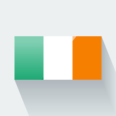 Isolated glossy flag of Ireland
