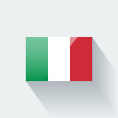 Isolated glossy flag of Italy