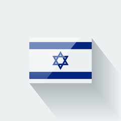 Isolated glossy flag of Israel