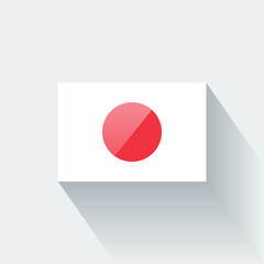 Isolated glossy flag of Japan