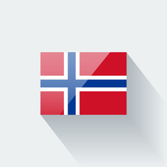 Isolated glossy flag of Norway