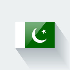 Isolated glossy flag of Pakistan