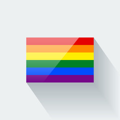 Isolated glossy rainbow flag