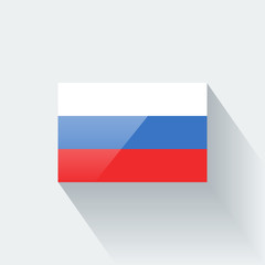 Isolated glossy flag of Russia