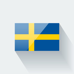 Isolated glossy flag of Sweden