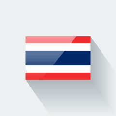 Isolated glossy flag of Thailand