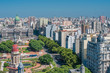 canvas print picture - Panorama of Buenos Aires, Argentina