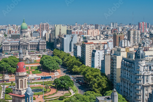 canvas print picture Panorama of Buenos Aires, Argentina