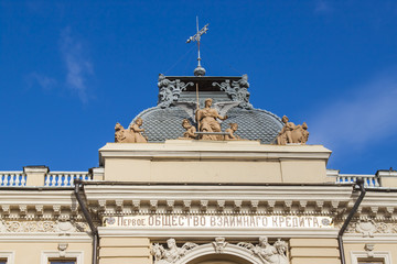 St. Petersburg, Russia. A typical architectural details