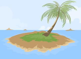 Island cartoon scene