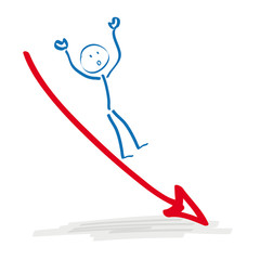 Stickman Falling Arrow