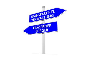 Gläserner Bürger vs Transparente Verwaltung