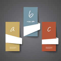3d cards for diverse information text