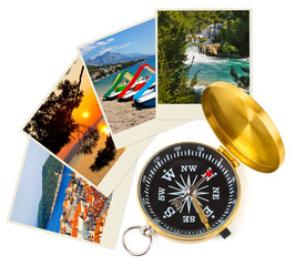 Croatia images and compass