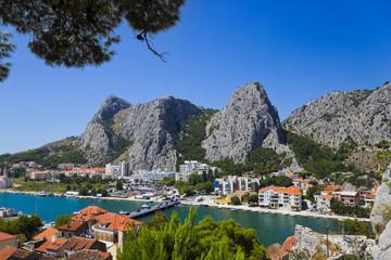 Town Omis in Croatia