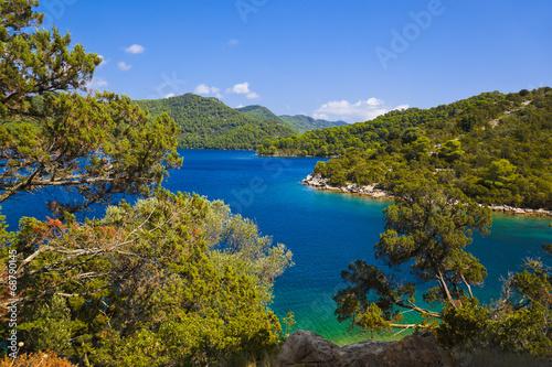 canvas print picture Lake at island Mljet in Croatia