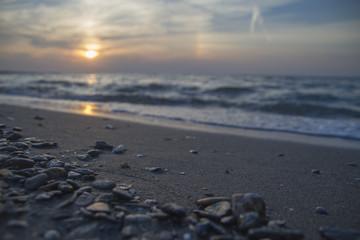 Günbatımı , Bulutlar ve Sahil