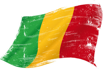 waving Malian grunge flag