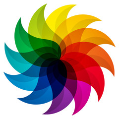Colored Petals / Pinwheel Icon