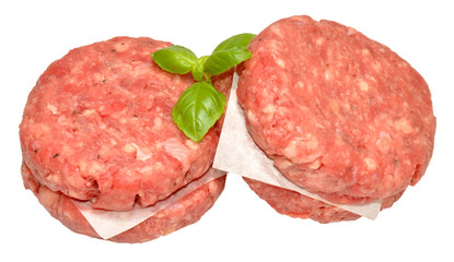 Raw Quarter Pound Beef Burgers