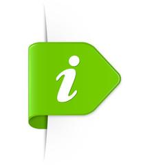 i - Hellgrüner Sticker Pfeil