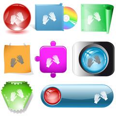 Gauntlets. Vector internet buttons.