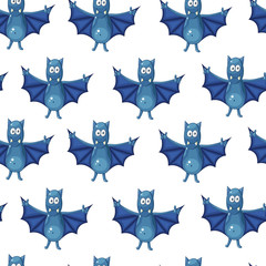 Seamless pattern with bats