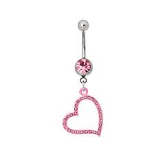 Silver piercing in the shape of heart