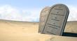 Ten Commandments Standing In The Desert - 68792523
