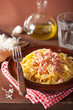 canvas print picture - italian pasta spaghetti carbonara