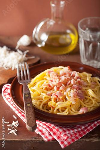 canvas print picture italian pasta spaghetti carbonara