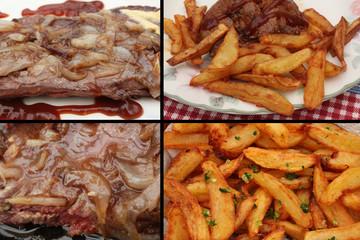 Viandes (3) : Onglet - Bavette - Steak    Frites