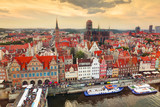 Top view on Gdansk old town and Motlawa river, Poland. - 68793560