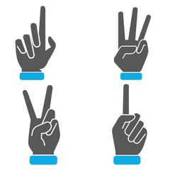 hand number sign