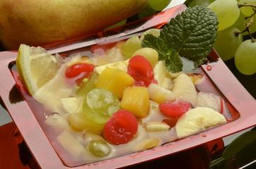 Macedonia de frutas Fruit salad Fruktsallad Vruchtensalade
