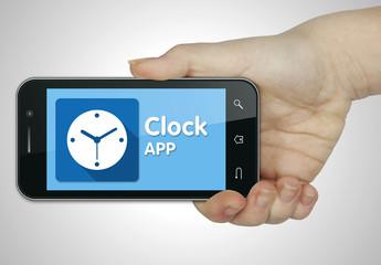 Clock app. Mobile