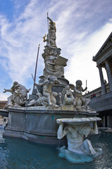Pallas Athene fountain in front of Austrian Parlament, Vienna