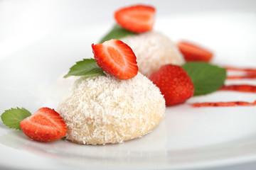 Творожное печенье с кокосовой стружкой