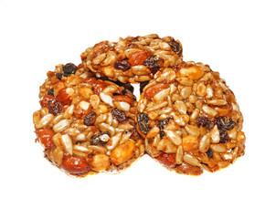 Kozinaki (national Georgian sweetness - nuts in honey) is isolat